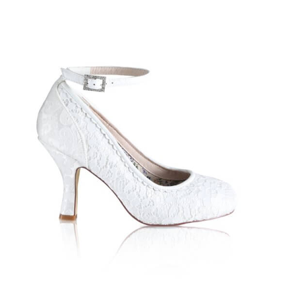 dixie vintage lace and brocade bridal shoes