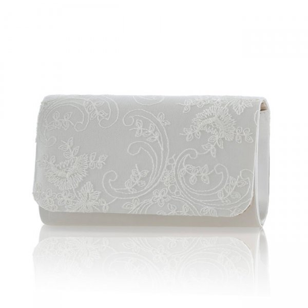 Laurel Dyeable lace Bridal Clutch Bag