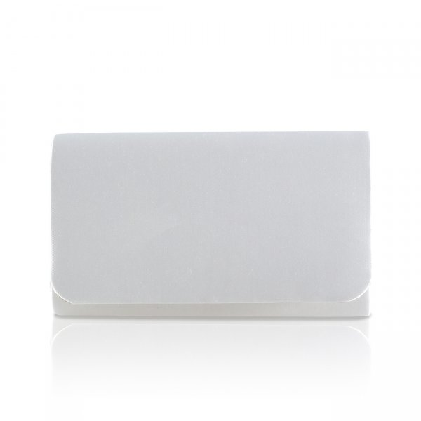 Laurel Dyeable Satin Bridal Clutch Bag
