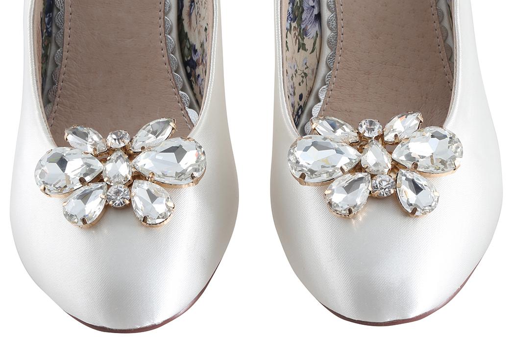mango crystal butterfly clip on shoe brooch