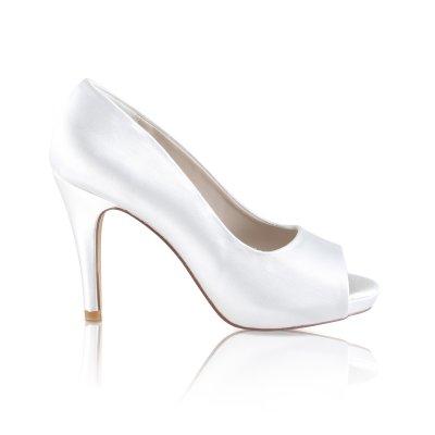 marietta ivory dyeable peep toe court shoe