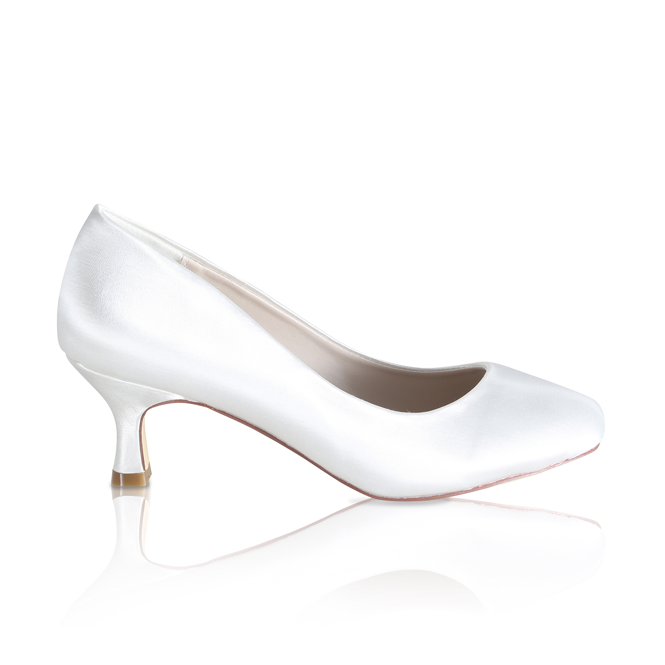 mathilde ivory dyeable satin bridal court shoes