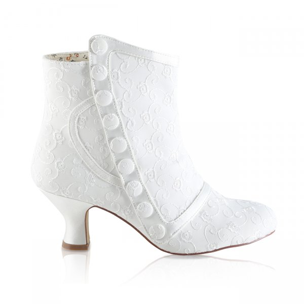 Nelly ivory broiderie anglais bridal boots