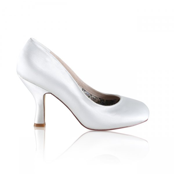 peggy dyeable satin bridal court shoes vintage inspired heel