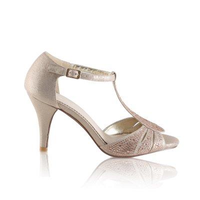 perla gold crystal encrusted sparkly sandal