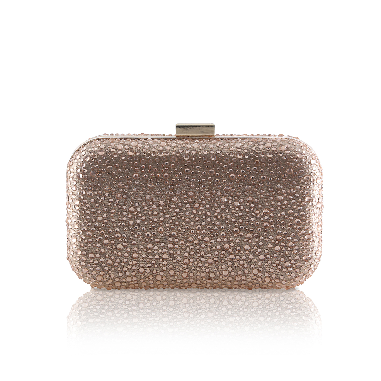 sammy crystal encrusted gold clutch bag
