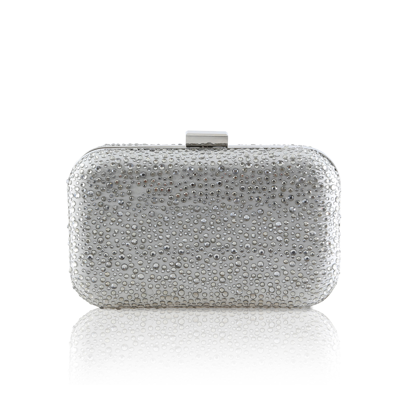 Sammy crystal encrusted ivory clutch bag