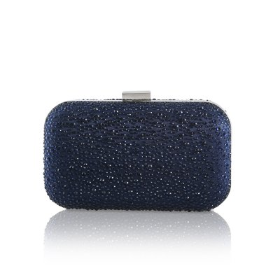 sammy crystal encrusted navy clutch bag