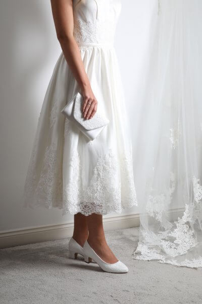 minna lace bridal clutch bag