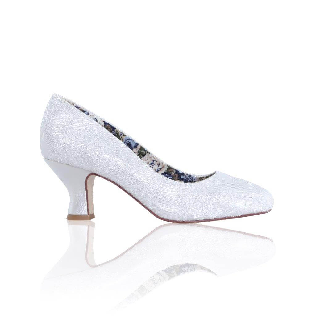 Vintage French-Heeled Lace Court Shoes