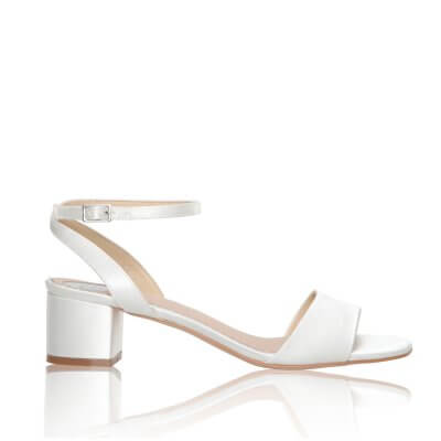riley block heel bridal shoes