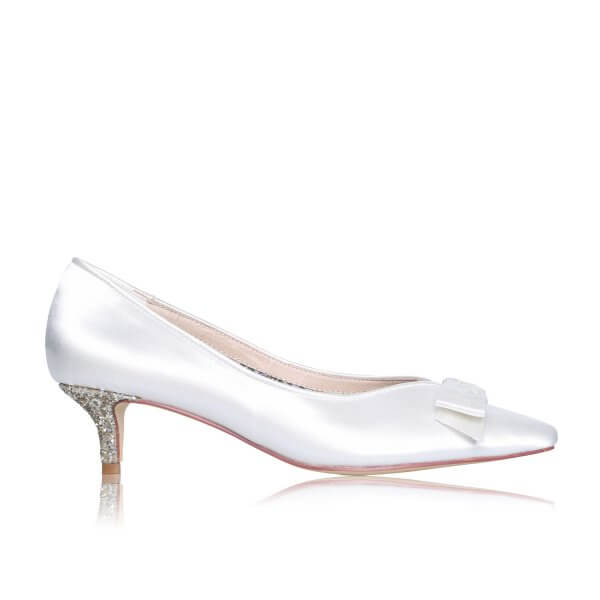 stacey low heel bridal shoes