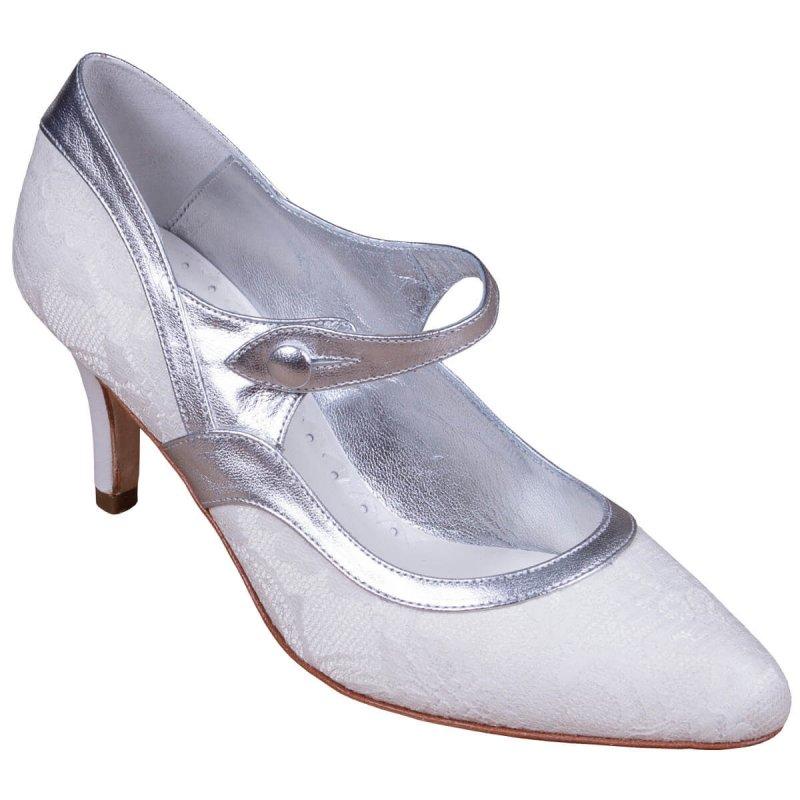 Silver Wedding Shoes.Amelia Silver