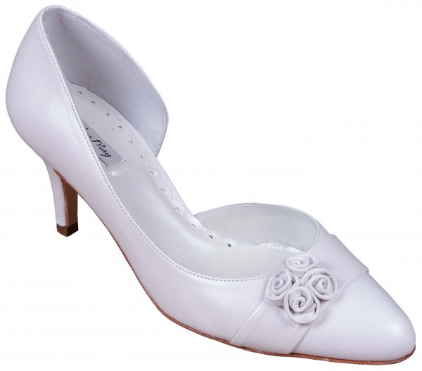 camila leather bridal shoes