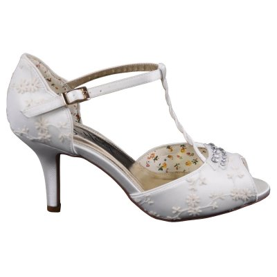 hazel peep toe bridal sandals