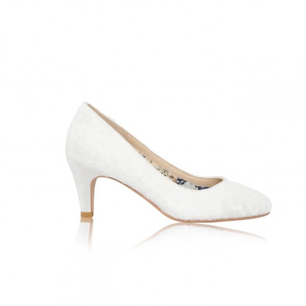erica lace bridal court shoes