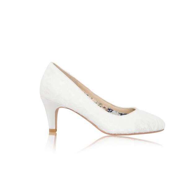 erica lace bridal court shoes