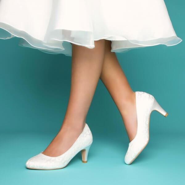 erica ivory lace dyeable bridal shoe