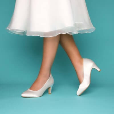 erica ivory satin bridal shoes