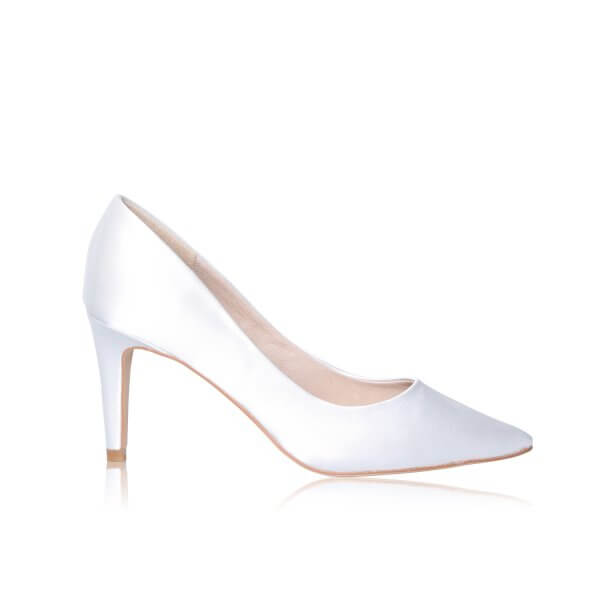 rachel ivory sating dyeable bridal shoes