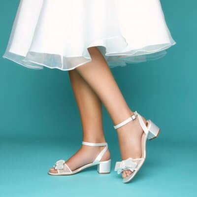 chloe polka dot bridal sandal