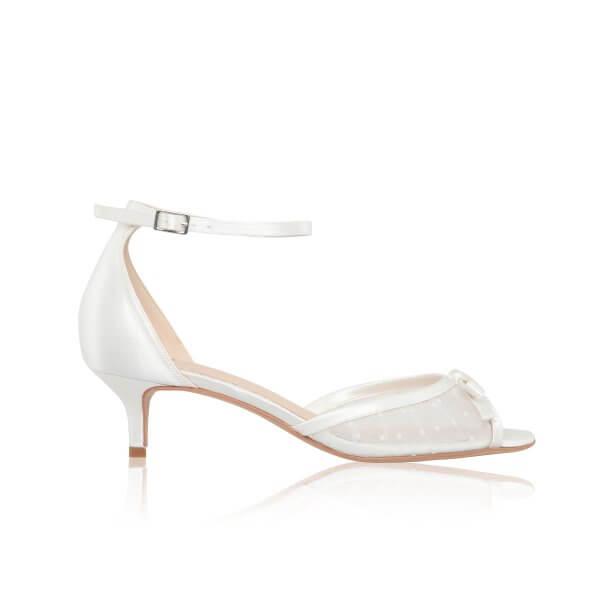 eadie low heel wedding shoes