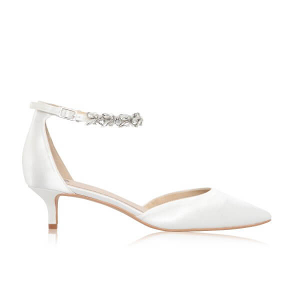 eliza dyeable low heel wedding shoes