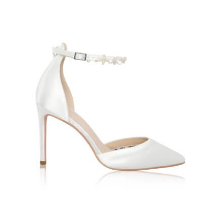Ella dyeable keshi pearl bridal shoes