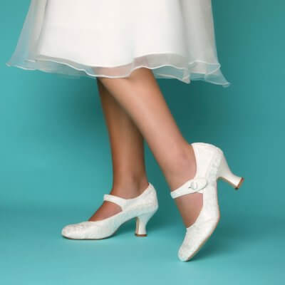 esta ivory lace bridal mary jane shoes