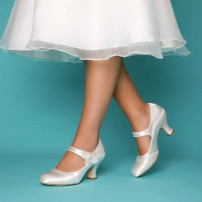 esta dyeable satin mary jane bridal shoes