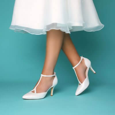 jaime leather t-bar vintage bridal shoes