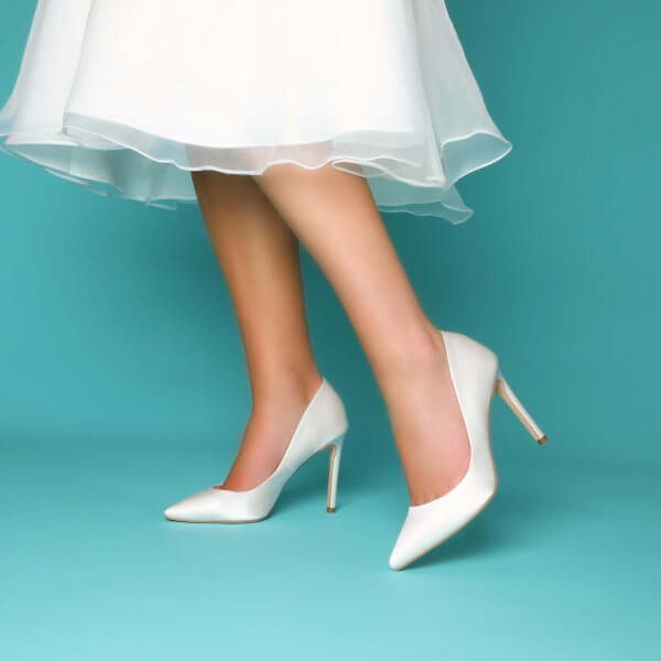 meghan dyeable satin bridal shoes
