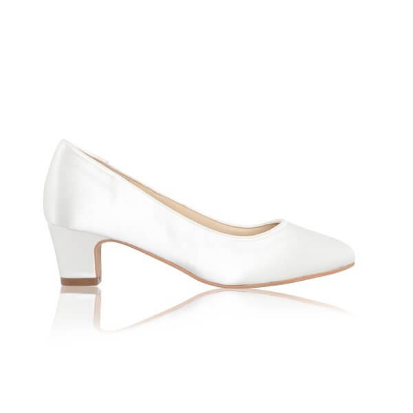 melanie satin low heels bridal shoes