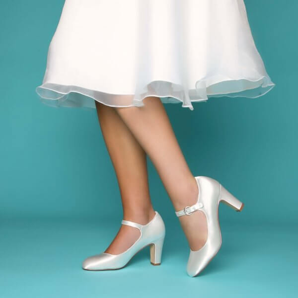 millly dyeable ivory mary jane bridal shoes