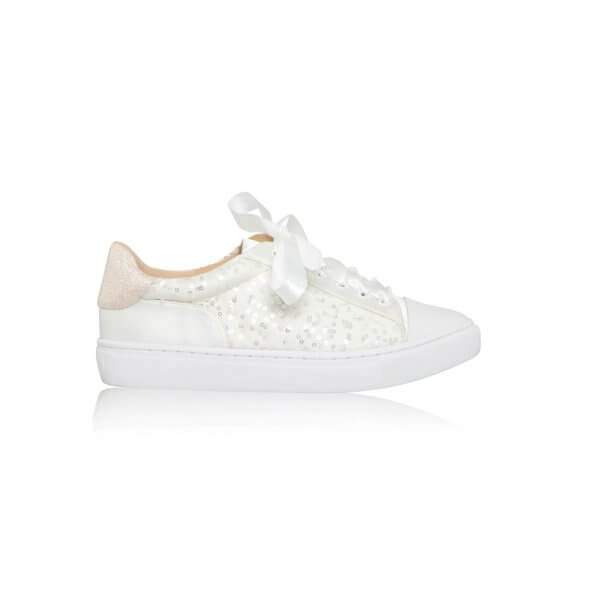 nikki lace bridal sneakers
