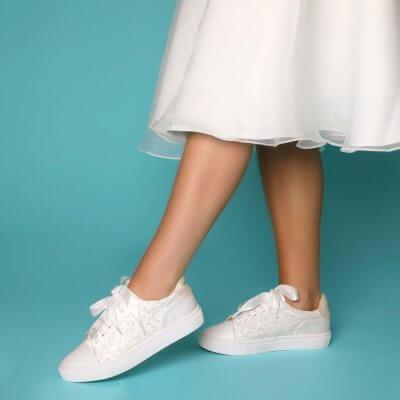 nikki lace bridal sneaker