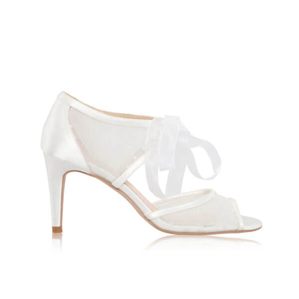 petra spot mesh bridal shoes