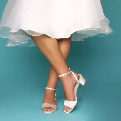 riley low block heel bridal shoes