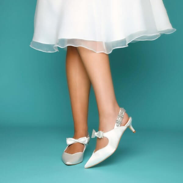 tegan kitten heel slingback bridal shoes