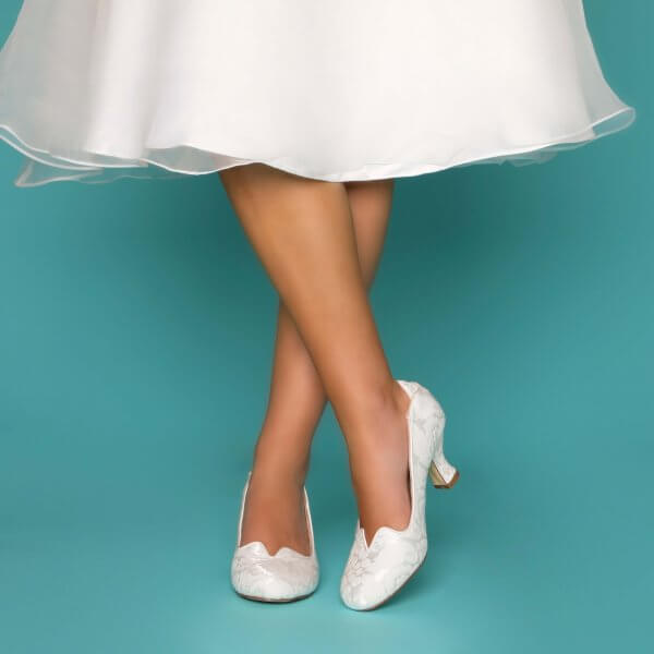 vivian vintage bridal shoes