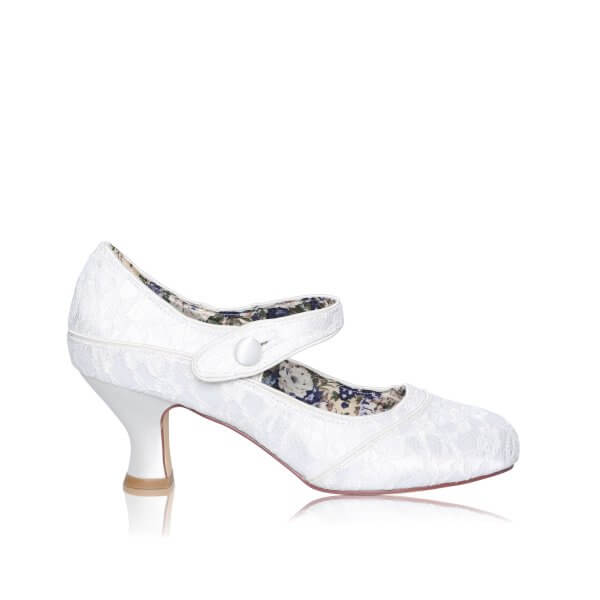 esta lace mary jane wide fit bridal shoes