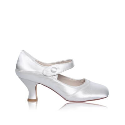 esta satin mary jane wide fit bridal shoes