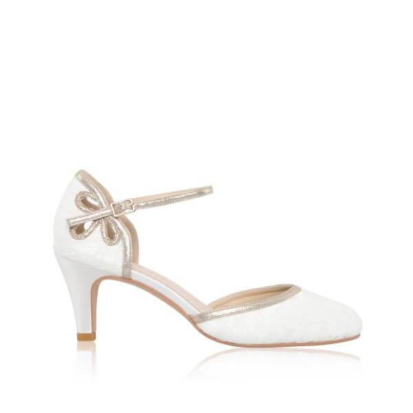 nina dyeable lace bridal shoes with cut out detail