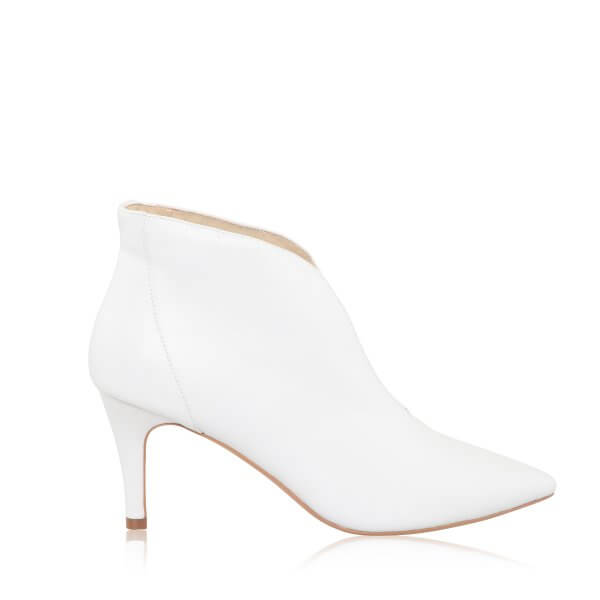 zara leather v-cut bridal boots