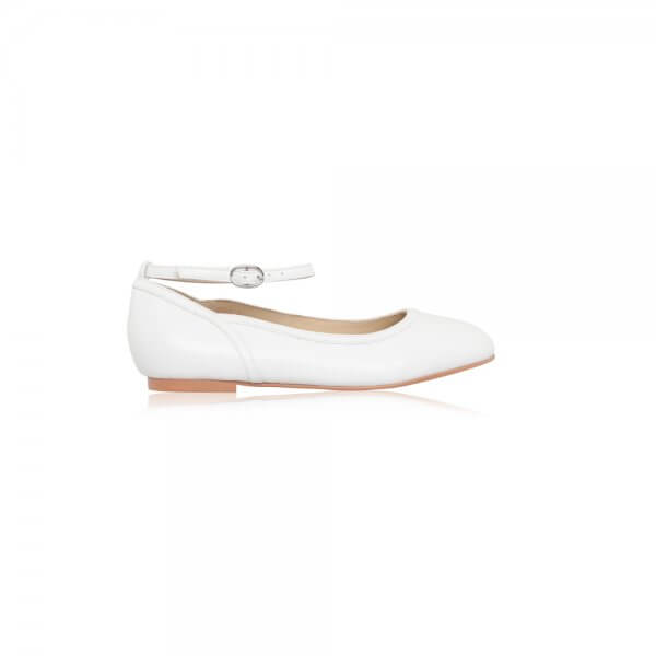 hanna plain leather communion shoes