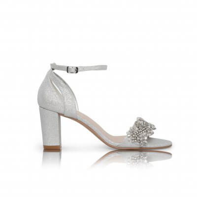 alexa silver shimmer barely there sandal