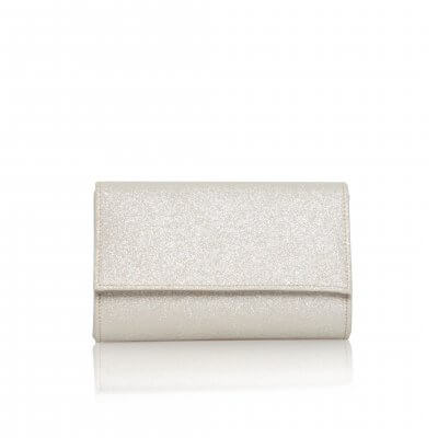 lola gold shimmer fabric clutch bag