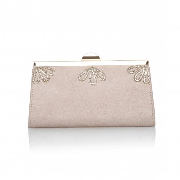 sage blush vintage ultra suede clutch bag