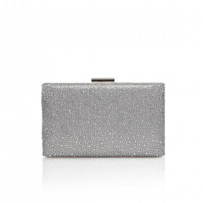 sorrel silver crystal box clutch