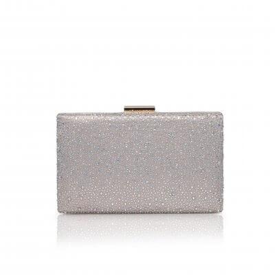 sorrel taupe crystal box clutch